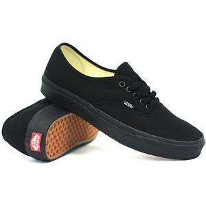Vans Oldskull Black White Size 39 44 vans authentic classic all black mens womens skate shoes sizes 3 5 13 ebay