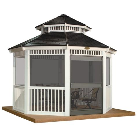 screened gazebo kits suncast gazebo screen kit pergola design ideas
