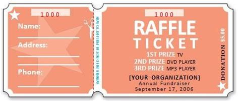 41 Free Editable Raffle Movie Ticket Templates Free Template Downloads Free Editable Raffle Ticket Template