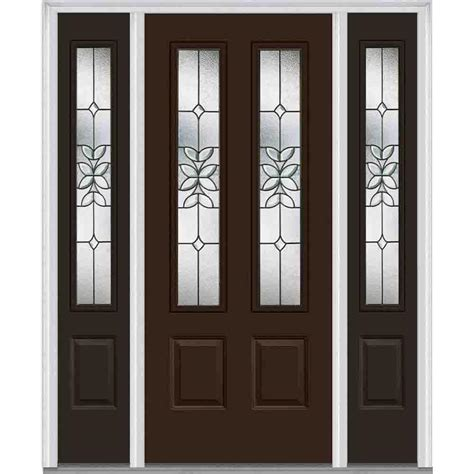 Exterior Doors With Sidelites Single Door With Sidelites Steel Doors Front Doors Exterior Doors The Home Depot
