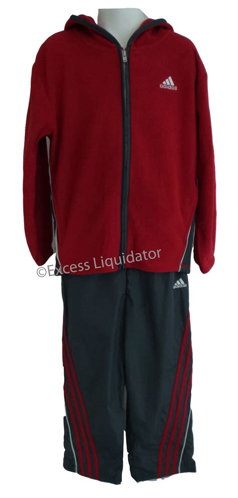 Set Hodie Adidas Boys Hoodie Fleece Track Set Jacket Ebay