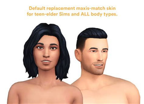 sims 4 default skin replacement my sims 4 blog 3 new body replacements to improve your