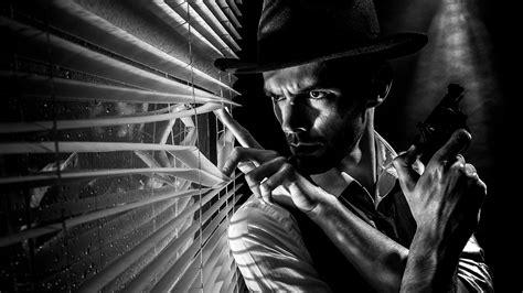Black And White Drama film noir in a small studio gavtrain com