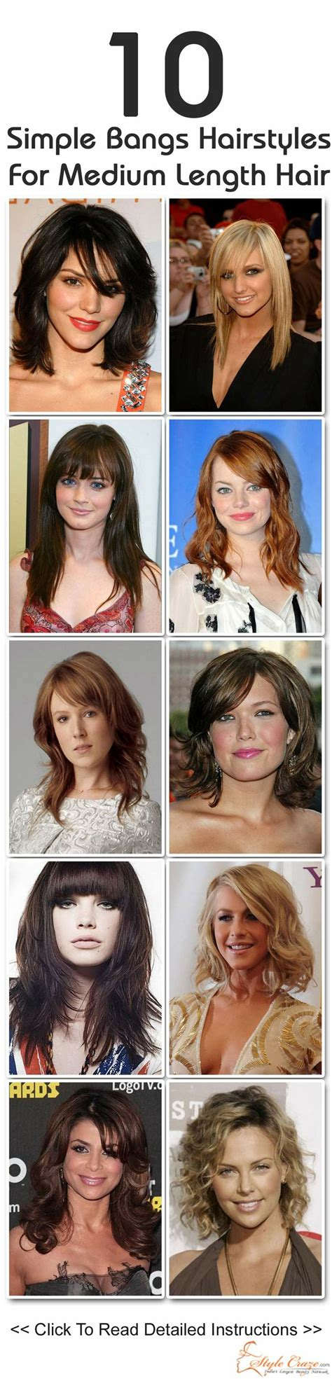 easiest bangs to maintain 10 simple bangs hairstyles for medium length hair bang
