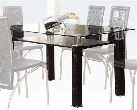 Clear Glass Dining Table Clear Glass Dining Table Toffy By Acme Furniture Ac70722
