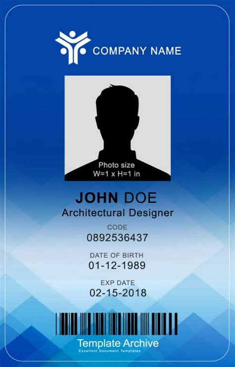 bottom id card template 16 id badge id card templates free template archive
