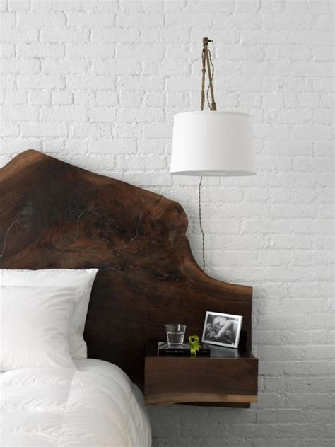 headboard with floating side tables floating headboard and lighting small living pinterest