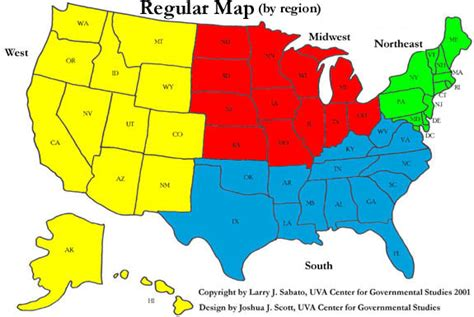 map of us states by region sabato s political maps