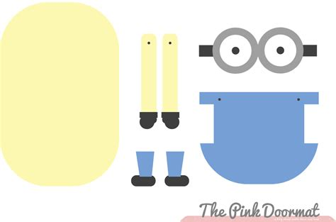 the pink doormat minion paper doll