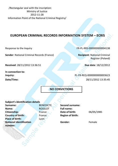 Italian Records Translation Criminal Record Check From National Judicial Record Ecris