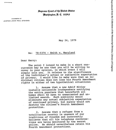letter of expectation template how justice got justice blackmun to tweak smith v