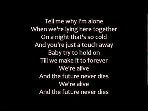 scorpions the future never dies lyrics