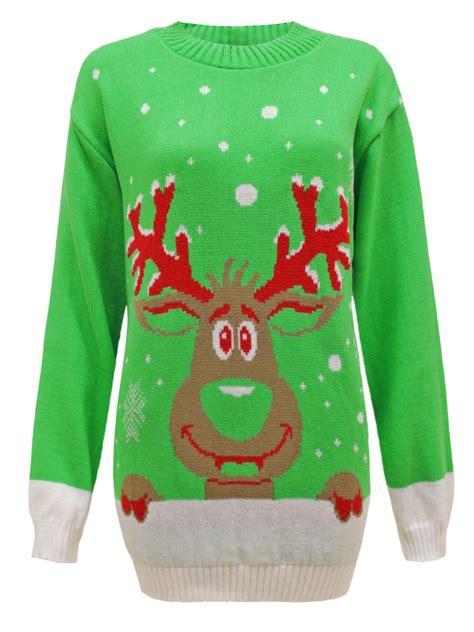 womens pattern christmas jumper ladies womens mens knit santa reindeer christmas xmas