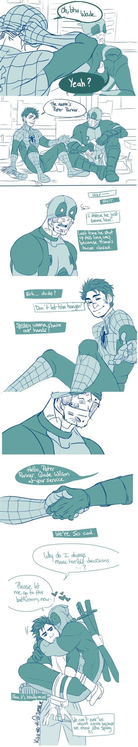 Link Time Fabsugar Want Need 57 by Best 25 Spideypool Comic Ideas On Can