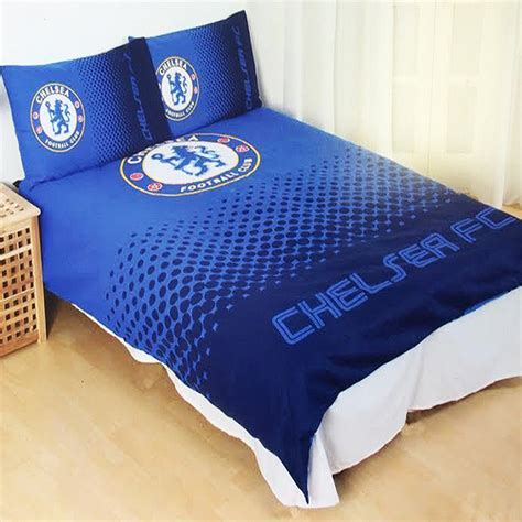 new chelsea football club fade double duvet quilt cover