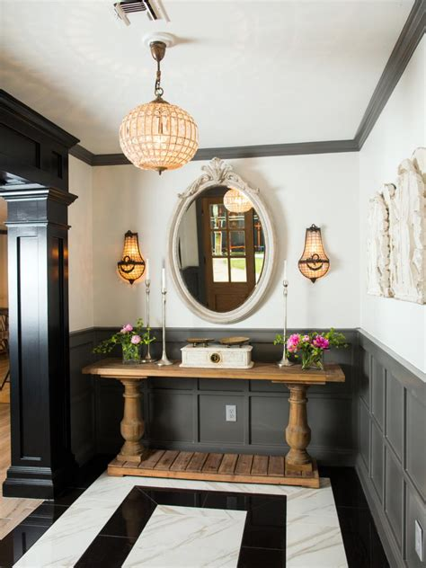 fixer foyer hgtv fixer brick house is world charm for newlyweds