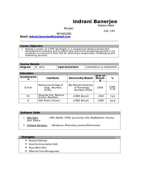 it resume for freshers resume pinterest sample resume and