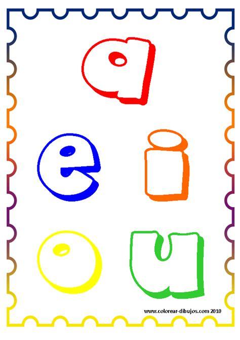 Imagenes Para Pintar Vocales | las vocales para pintar imprimir y colorear vocales