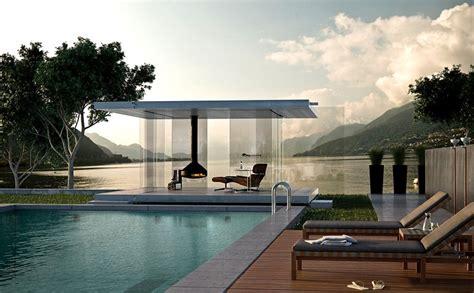 pavillon pultdach rundum transparent quot pavillon 360 quot glas marte bild 2
