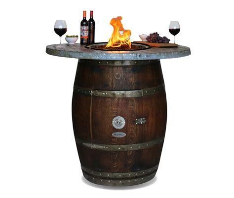 barrel pit table wine barrel pit table barrel wood top vita