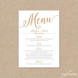 Wedding Menu Template by Sle Menu Card Template 29 In Psd Pdf Word