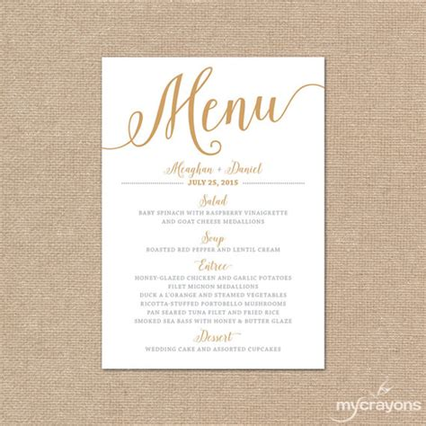 Wedding Menu Card Template by Sle Menu Card Template 29 In Psd Pdf Word