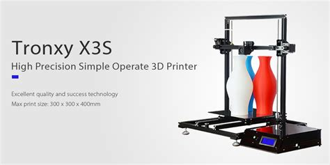 Diy 3d Tronxy Y Axis Heat Bed Support Acrylic 7mm tronxy x3s high precision aluminum frame lcd display screen 3d printer diy kit black us