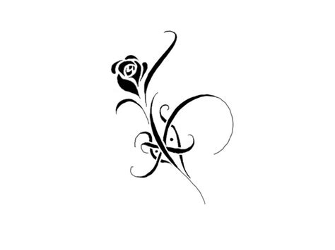 simple black rose tattoo black and white flower designs cliparts co