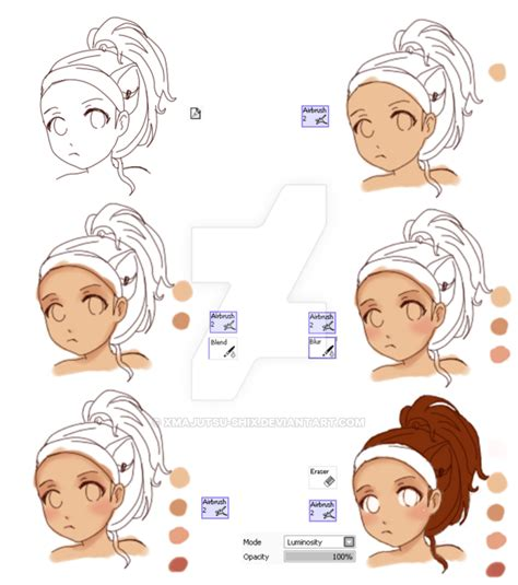anime skin shading tutorial by xmajutsu shix on deviantart