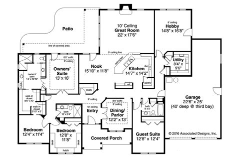house floor planner ranch house plans west creek 30 781 associated designs