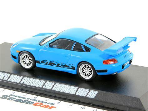 Greenlight Scale 143 Brians 2001 Porsche 911 Gt3 Rs 1 43 porsche 911 gt3 rs 2001 blue fast furious fast five v
