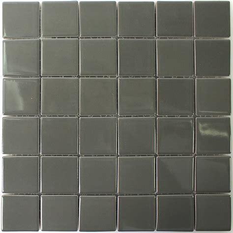fliesen keramik keramik mosaik fliesen grau uni gl 228 nzend tm33349