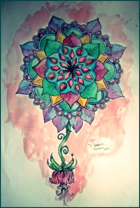 watercolor aquarela mandala para uma tattoo florencia