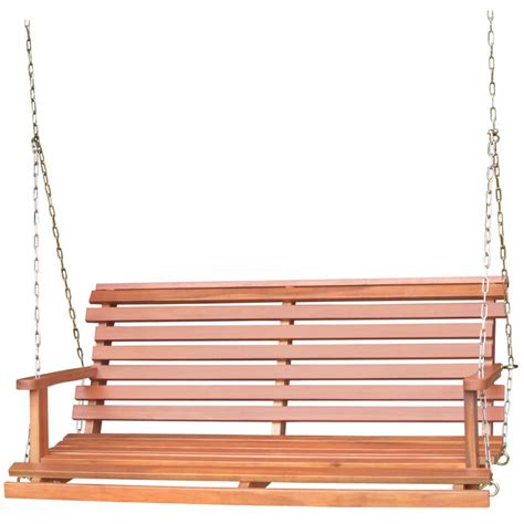 Chain For Porch Swing international concepts unfinished porch swing with chains outdoor living patio furniture