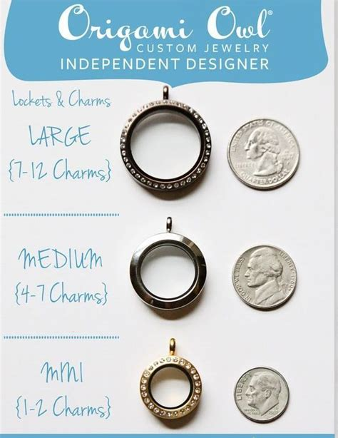 Origami Owl Sizes - origami owl locket size comparison how big how many
