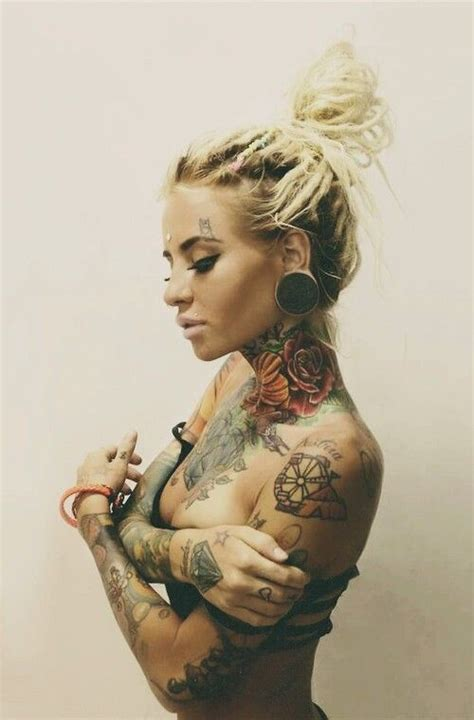 hot chicks with tattoos 80 best images about dreads on