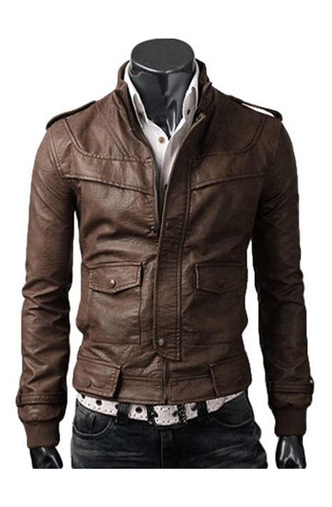 light brown leather jacket mens light brown jacket slim leather jacket
