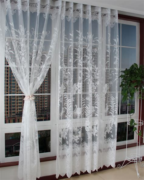 crossover voile curtains luxury curtains tulle high quality white embroidery yarn