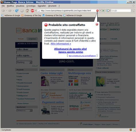 sito intesa il mio primo phishing zava