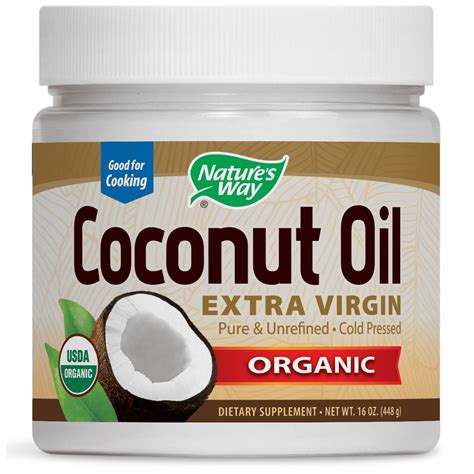coconut oil nature s way organic coconut oil extra virgin 16 oz