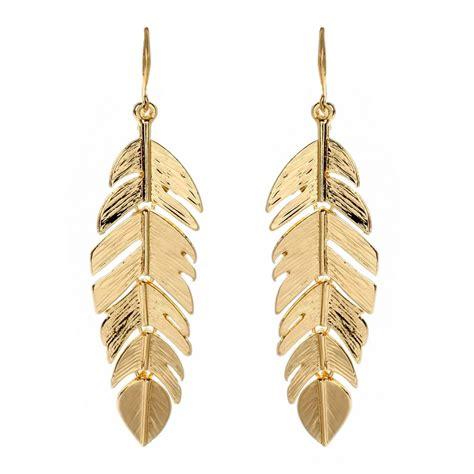 Leaf Earring by Amrita Singh Gold Leaf Earring Fashion Jewelry