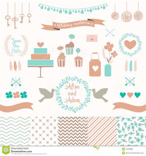 love wedding design elements vector set for wedding design love elements for your design