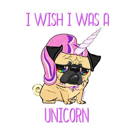 unicorn pug i wish i was a unicorn pug t shirt teepublic
