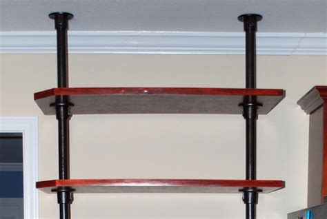 Shelf Fittings by Floor To Ceiling Pole Mounted Kitchen Shelving Projects