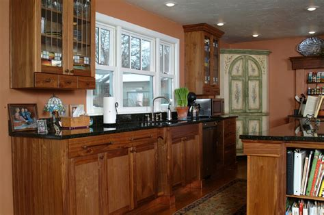 kitchen cabinets craftsman style copper accented craftsman style kitchen with walnut