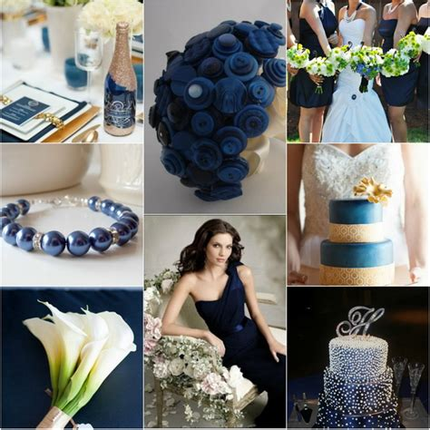midnight blue and gold winter wedding themes