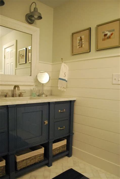 horizontal beadboard bathroom boys bathroom light fixtures love the vanity with those