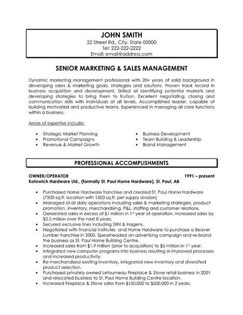 resume format sales and marketing 59 best best sales resume templates sles images on sales resume resume