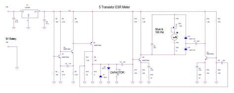 capacitor tester schematic digital esr meter schematic glucose meter schematic elsavadorla