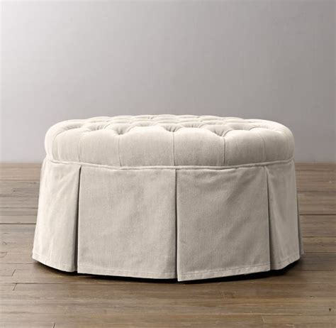 round tufted skirted ottoman 55 best images about home on pinterest nesting tables
